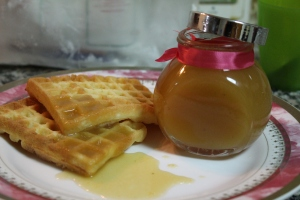 Apple Sauce with waffles