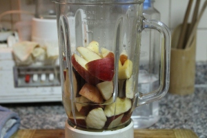 Apples in the blender