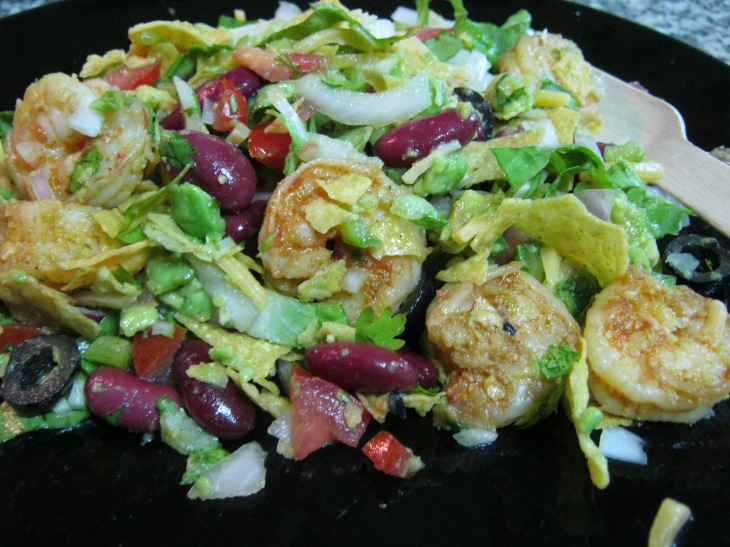 shrimp taco salad (2)